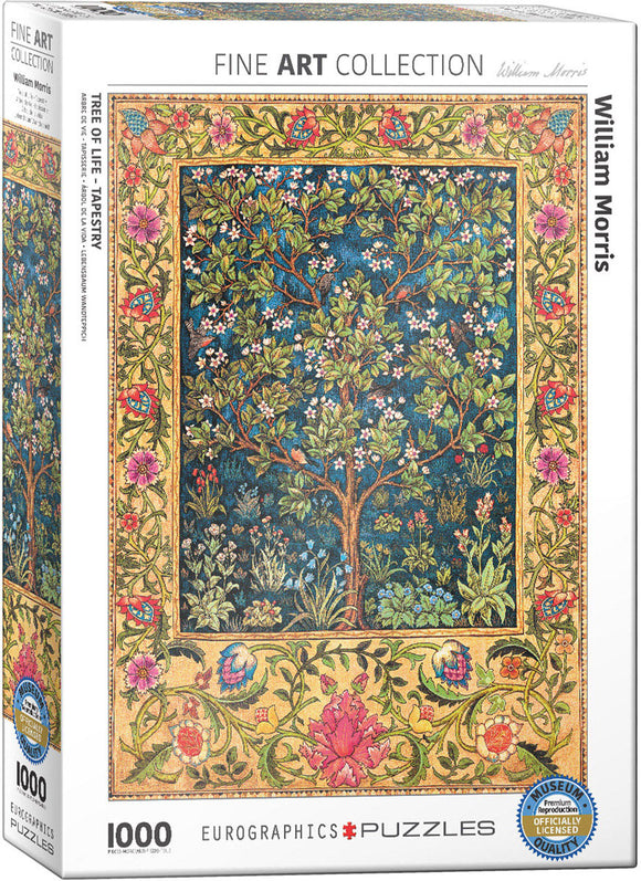 Puzzle: Fine Art Masterpieces - Tree of Life Tapestry by William Morris