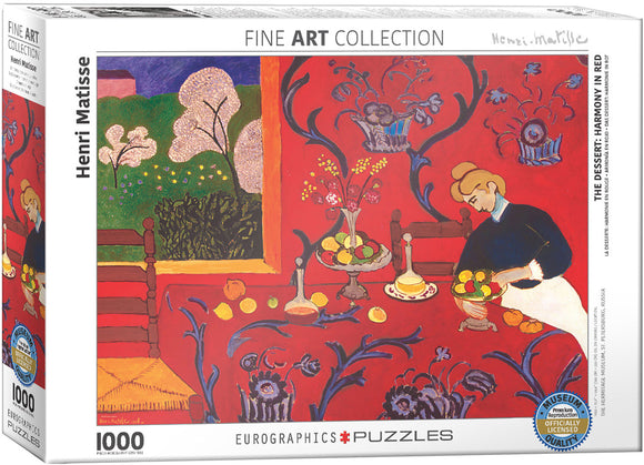 Puzzle: Fine Art Masterpieces - Harmony in Red by Henri Matisse