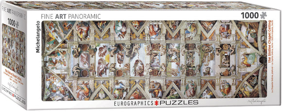 Puzzle: Panoramic Puzzles - The Sistine Chapel Ceiling by Michelangelo