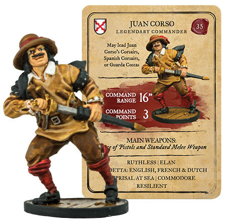 Blood & Plunder: Spanish Juan Corso Legendary Commander