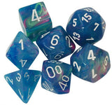 Chessex Dice: Festive Polyhedral Set Waterlily/White (7)