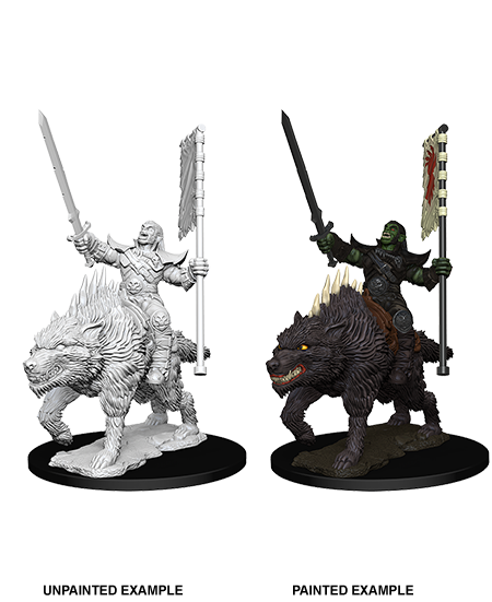 Pathfinder: Deep Cuts - Orc on Dire Wolf