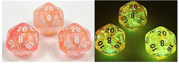 Chessex Dice: Borealis Polyhedral Set Set Supernova/white Luminary (7)