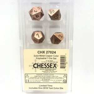 Chessex Dice: Metal Polyhedral Set Copper (7)