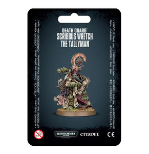Warhammer 40K: Death Guard Scribbus Wretch, the Tallyman