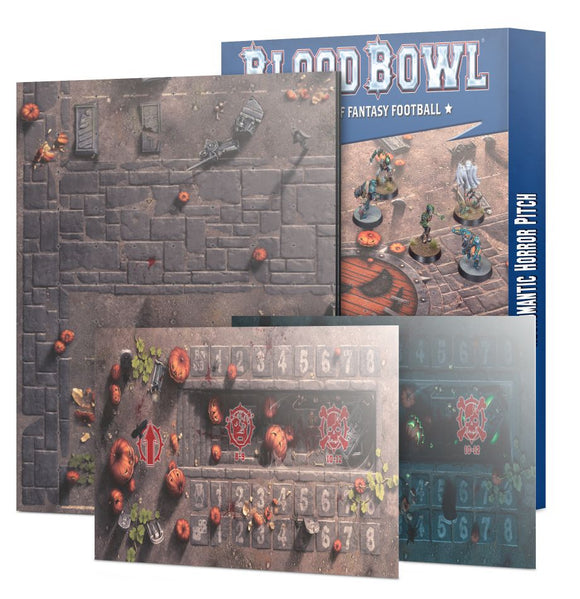 Blood Bowl: Necromantic Horror Pitch – Double-sided Pitch and Dugouts