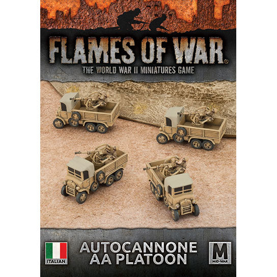Flames of War: Italian Autocannone 20mm AA Platoon (Mid War)