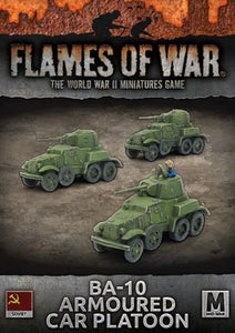 Flames of War: Soviet BA-10 Armoured Car Platoon (Mid War)