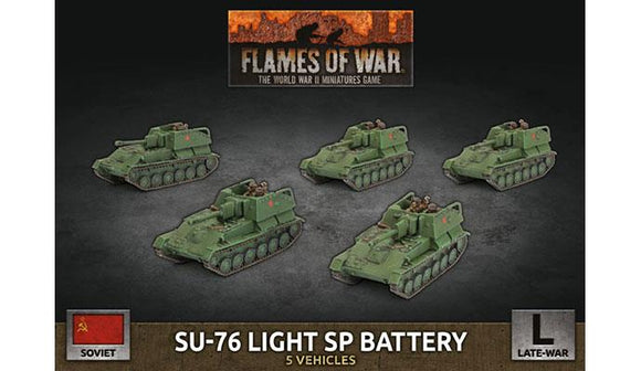 Flames of War: Soviet SU-76 Light SP Battery (Plastic)