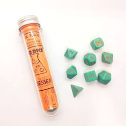 Chessex Dice: Heavy Polyhedral Set Turquoise/Orange (7)