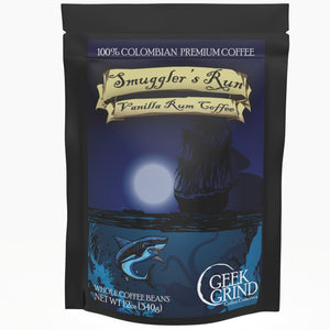 "Geek Grind Coffee: Smuggler's Run ""Vanilla Spiced Rum"""