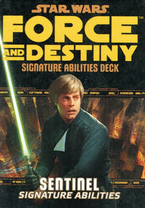 Star Wars: Force and Destiny: Sentinel Signature Abilities Deck