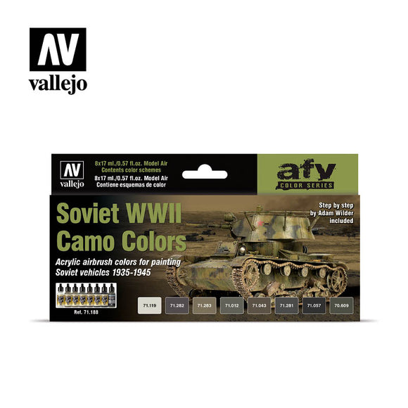 Model Air Set: Soviet WWII Camo Colors (8) by Adam Wilder