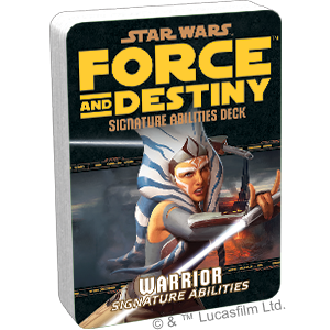 Star Wars: Force and Destiny: Warrior Signature Abilities Deck