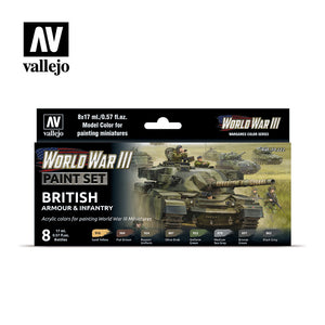 Model Color: WWIII Paint Set - British Armour & Infantry