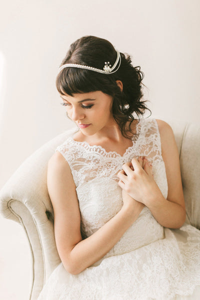 1950's Style Bridal Headpiece #301HP