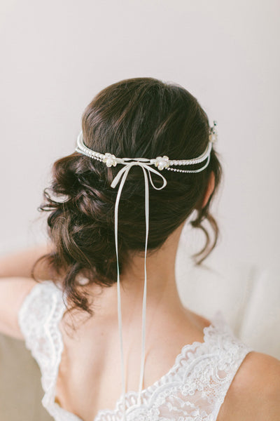 1950's Style Bridal Headpiece #301HP-W