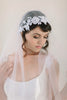 Beaded Lace Juliet Veil #708V