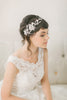 Reserved for Mel - Rose Gold accents - Copy of Birdcage Veil with Hand Beaded Lace #713V
