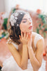Birdcage Veil with Silk Flowers #700V-W