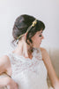 Crystal Bridal Headpiece with Flower Clusters - #200HB-W
