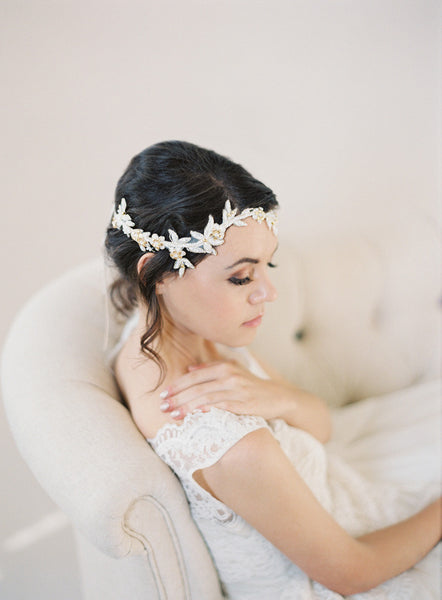 Crystal Lace Vine Wedding Headpiece #217HB