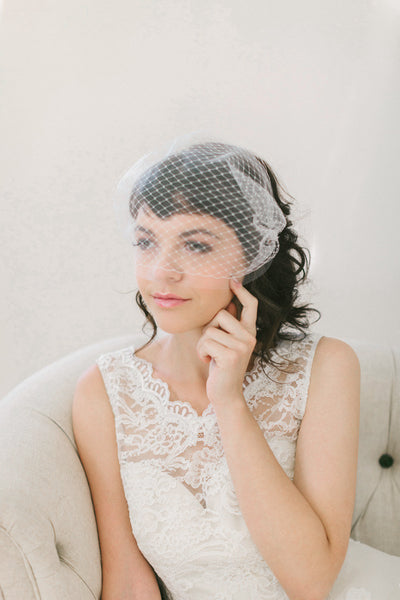 Double Layer Bandeau Veil #714V-W