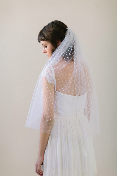Elbow Length Polka Dot Veil #705V