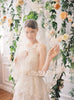 Guipure Lace Edge Wedding Veil #702V-W