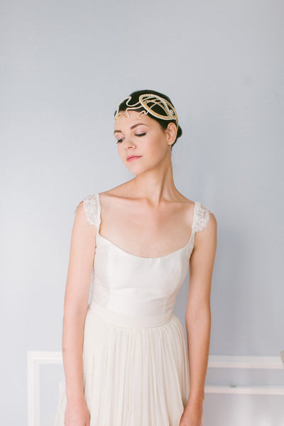 Vintage Lines bridal Headpiece #225HB