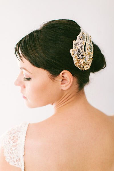 Lace Wings with Pearls and Crystals #109HC-W