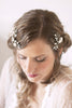 Flower and Pearl Bridal Hair Comb Set of 2 #112HC