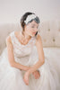 Short Beaded Lace Birdcage Veil #717V