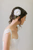 Silk Flower and Swarovski crystal Hair Comb #101HC