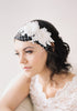 Silk Flowers, Lace Headband Veil #701V