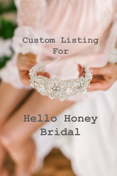 Custom Order for Hello Honey Bridal - No Dangles