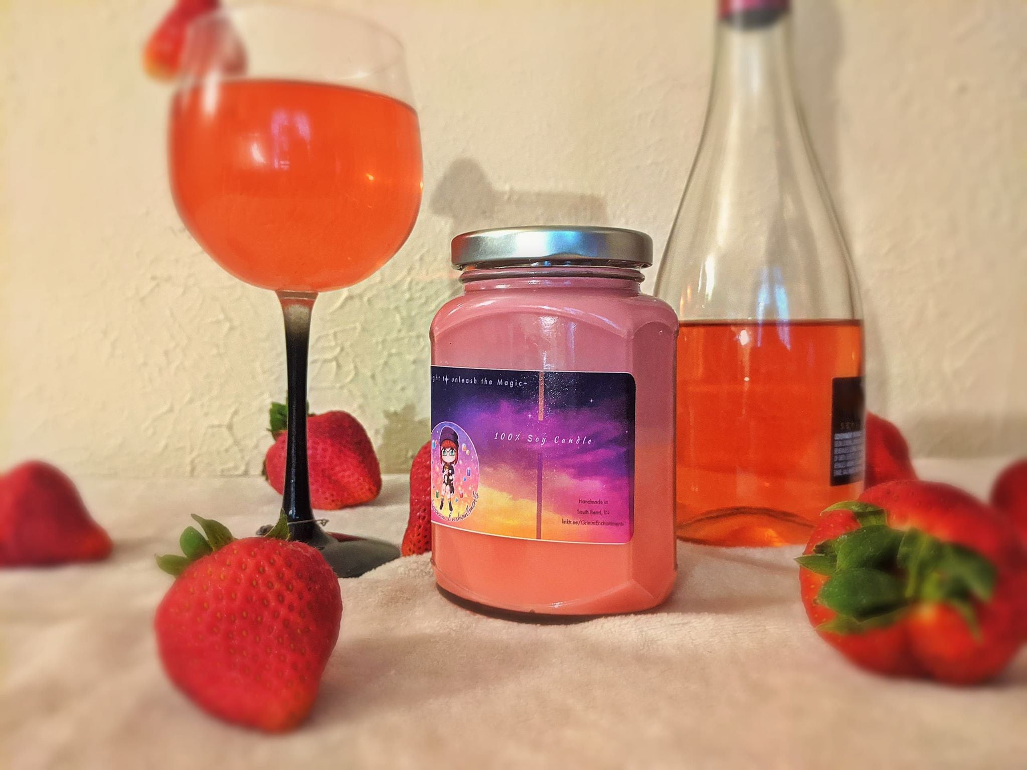 Strawberry Wine Hex Candle