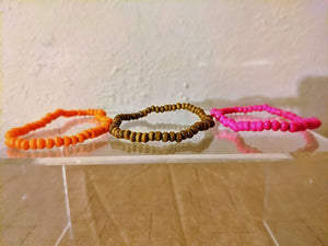 Wooden Beaded Bracelet Set