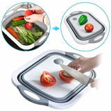 3 in 1 Multi functional Kitchen Fold able Cutting, Chopping Board with Plug