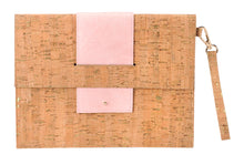 Load image into Gallery viewer, CORK CLUTCH Blush Pink