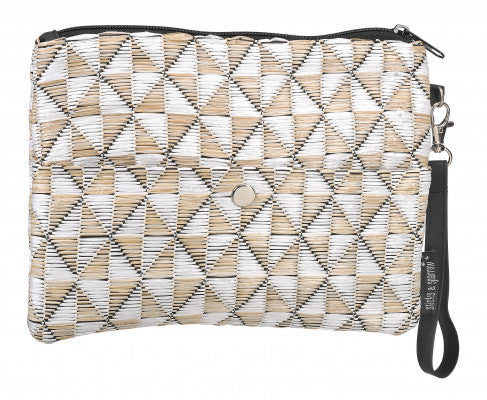 WOVEN CLUTCH White