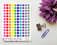 Rainbow Dots 5mm Planner or Bullet Journal Stickers for Functional Planning 053