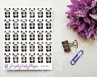 Panda with Box Parcel 103 Planner or Bullet Journal Sticker for Functional Planning