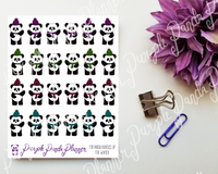 Panda Bundles Up for Winter 110 Stickers for Planner, Bullet Journal, or Scrapbook