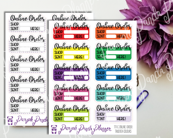 Online Order Trackers 111 Planner or Bullet Journal Stickers for Functional Planning