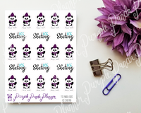 Panda Goes Ice Skating Stickers for Bullet Journal or Planner 113