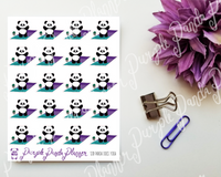 Panda Does Yoga 120 Planner or Bullet Journal Stickers for Functional Planning