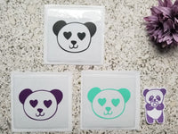 Panda Heart Eyes Design Adhesive Pocket