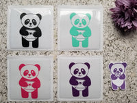 Panda with Happy Mail Envelope Design Adhesive Pocket