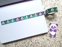 Pandamoji Washi Tape with Purple & Teal Ombre Gradient *EXCLUSIVE*